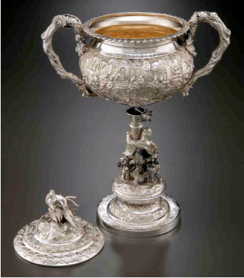 Chinese Export Silver MLW Sheng Chang Standing Cup detailing