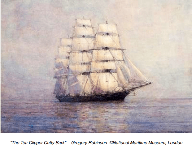 #ChineseExportSilver - Cutty Sark Tea Clipper