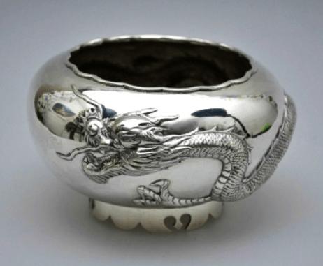 Ning Zhao Ji for Luen Wo Chinese Export Silver Rose Bowl
