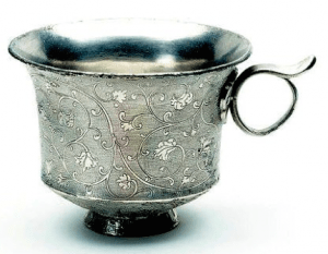 Tang silver cup