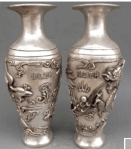 Fake Xuande Silver Vases