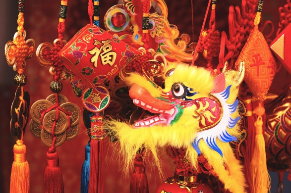 Chinese New Year dragon decorations