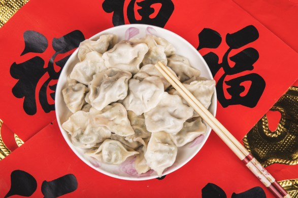 Chinese New Year dumplings