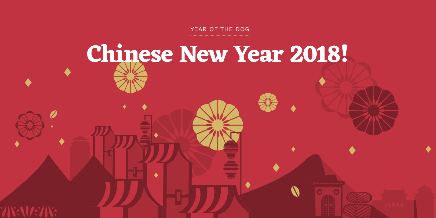 Chinese New Year 2018  Year of the Dog