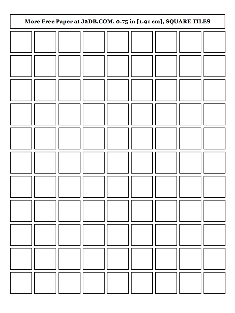 Fang Ge Zhi (Paper) 方格纸 Square Tiles Empty Grid Paper PDF