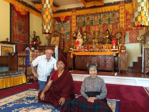 Buddha Hall with Dwayne & Dorje Palmo