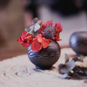 Trio de mini-vases ronds de Marginea