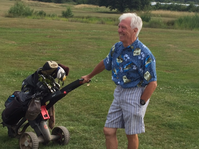 Jimmy Hobley's Captain's Day outfit