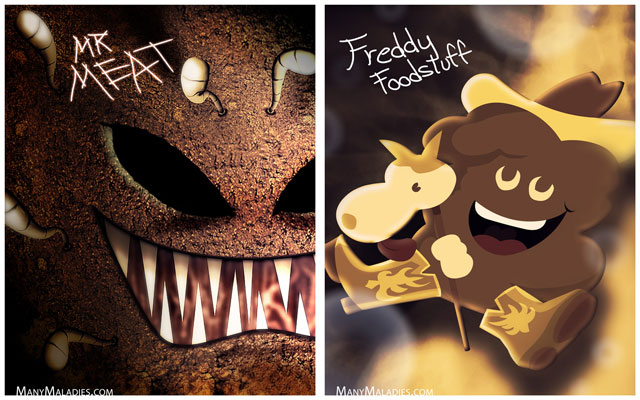 Mr. Meat and Freddy Foodstuff