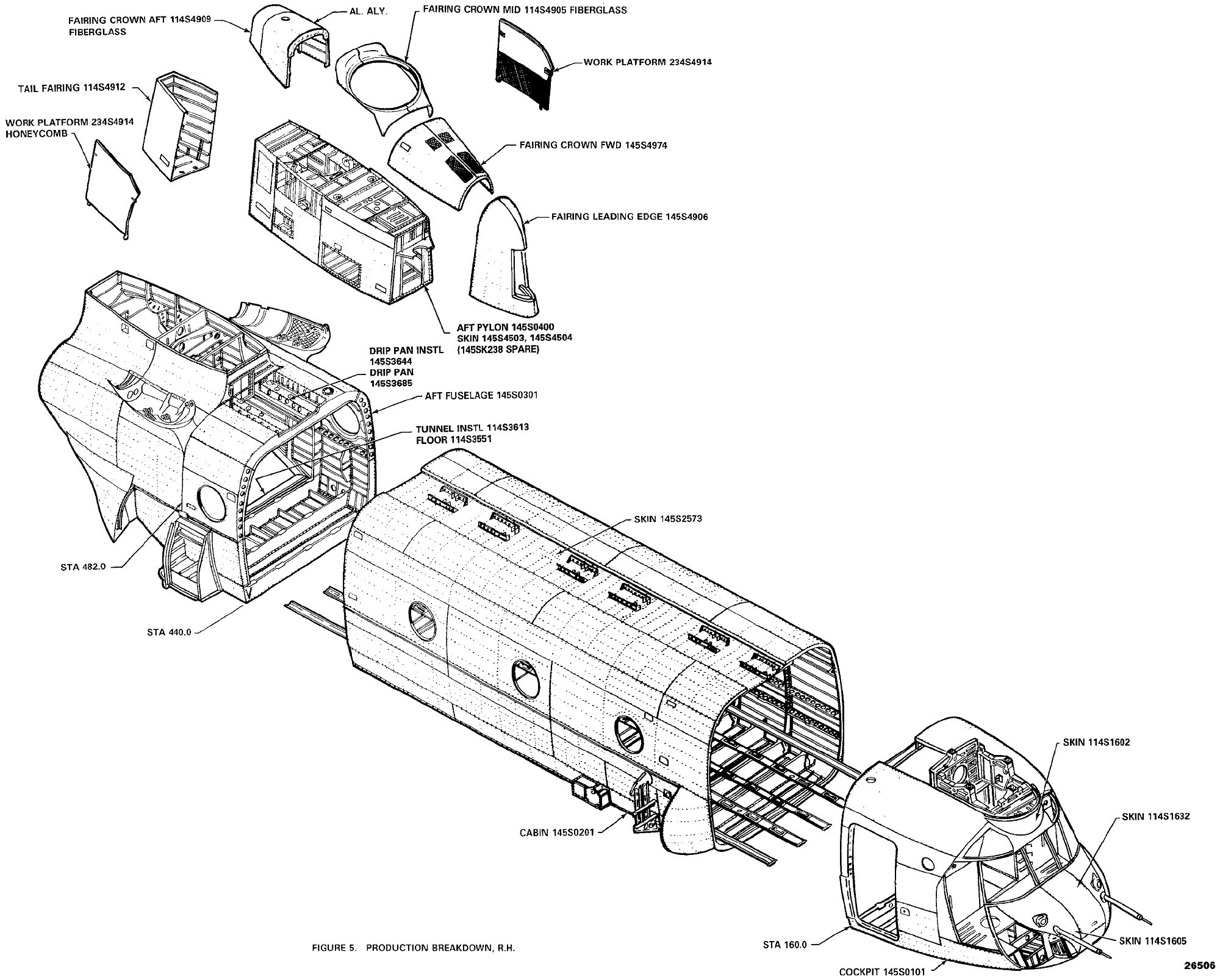 The CH-47D Chinook Structural Drawings.