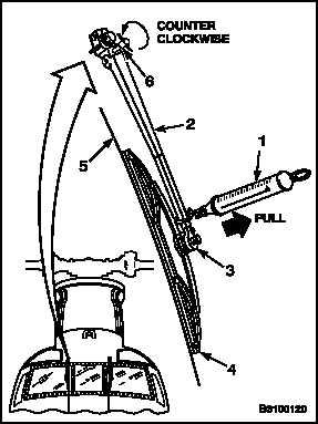 ADJUST WIPER ARM PRESSURE