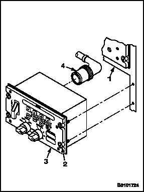 REMOVE AN/ALE-47 DIGITAL CONTROL DISPLAY UNIT (DCDU)