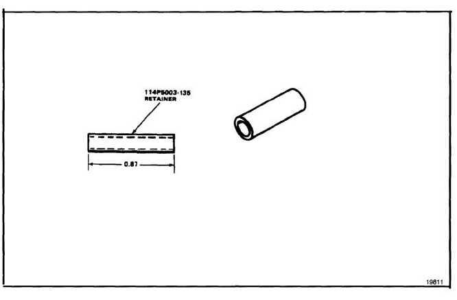 DRIVE SHAFT GEARBOX FAIRING HINGE PIN RETAINER 114P5003-135
