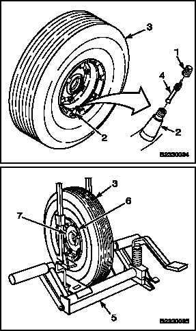 REMOVE LANDING GEAR TIRE AND TUBE