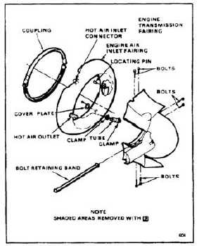 REPAIR ENGINE TRANSMISSION FAIRING MINOR DAMAGE