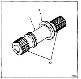 INSPECT ENGINE TRANSMISSION QUILL SHAFT