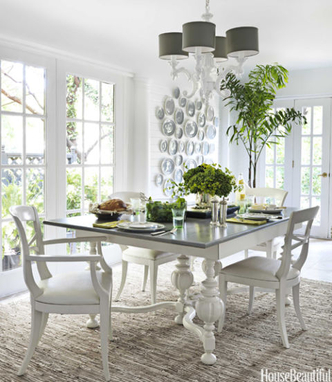 interior design white table
