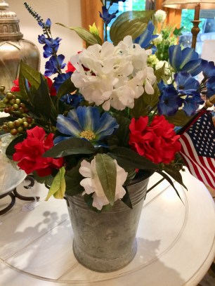 arrangement red white blue