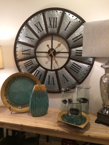 home-accessories-metal-clock-round