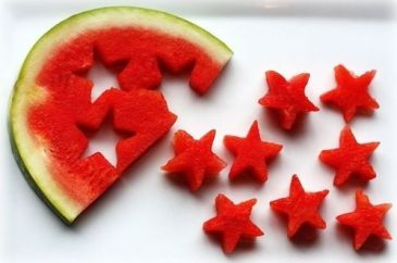 watermelon shapes-outdoor fun