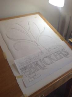 Bricker's Wedding Poster line drawing