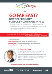 "Debata ""Go far East? New opportunities for Polish companies in Asia"" – zaproszenie"