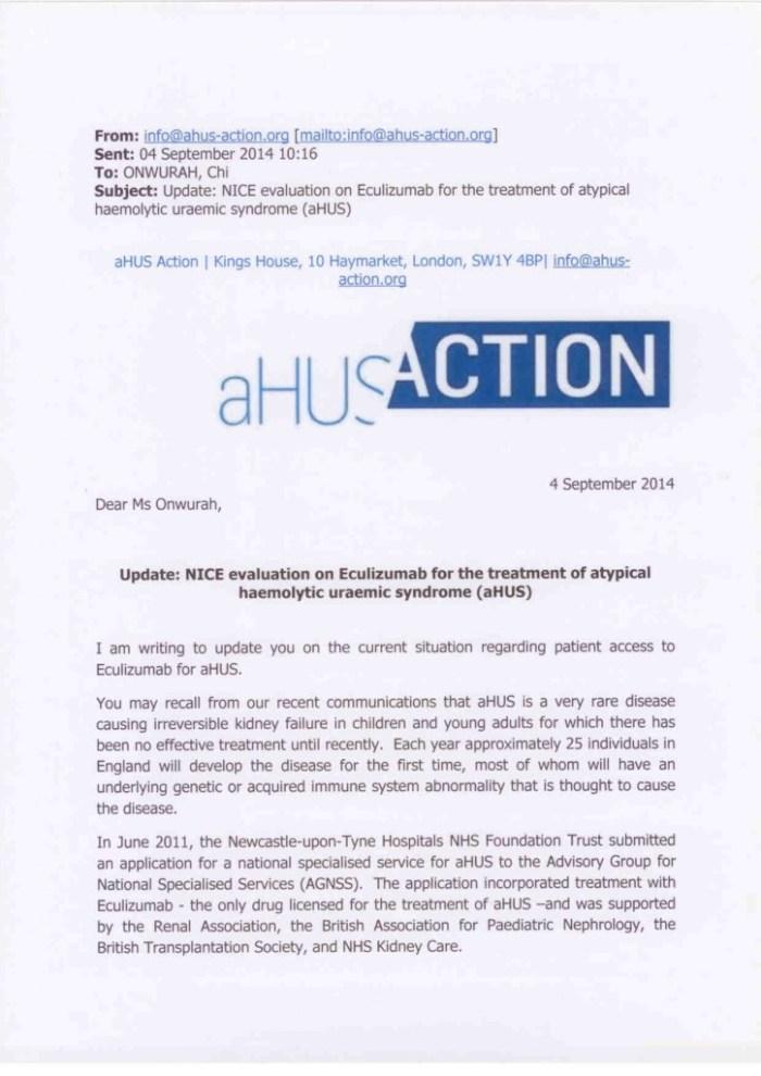 AHUS ACTION letter 04 Sept 2014