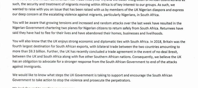 Seeking action to end violence against migrants in South Africa
