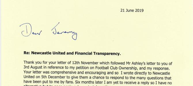 Newcastle United and Financial Transparency