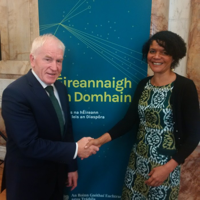Chi welcomed to Dublin by Irish Minister for Foreign Affairs and Trade