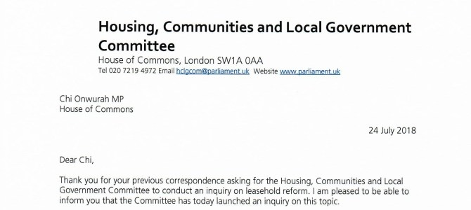 HCLG Committee launch leasehold reform inquiry