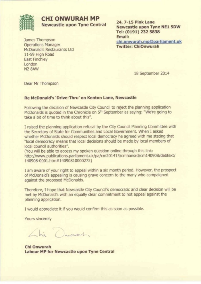 Letter-to-McDonalds-re-Drive-Thru-planning-application-on-Kenton-Lane-in-Newcastle-18-sept-2014