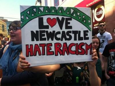 Love Newcastle, hate racism