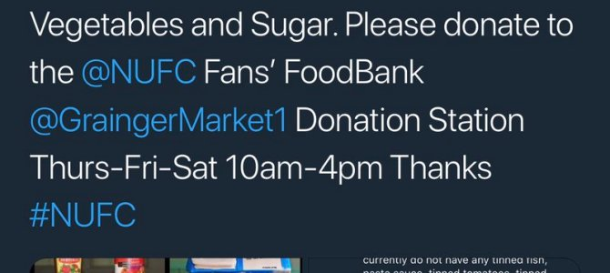 NUFC Fans Food Bank Appeal
