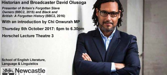 Really looking forward to introducing & hearing fellow Geordie David Olusoga at Newcastle University