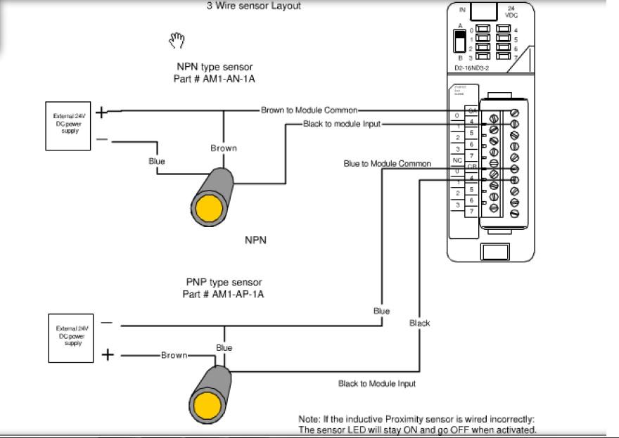 4 wire proximity switch diagram