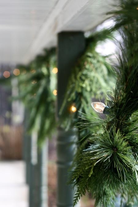 fresh_Pine_garland_with_white_lights
