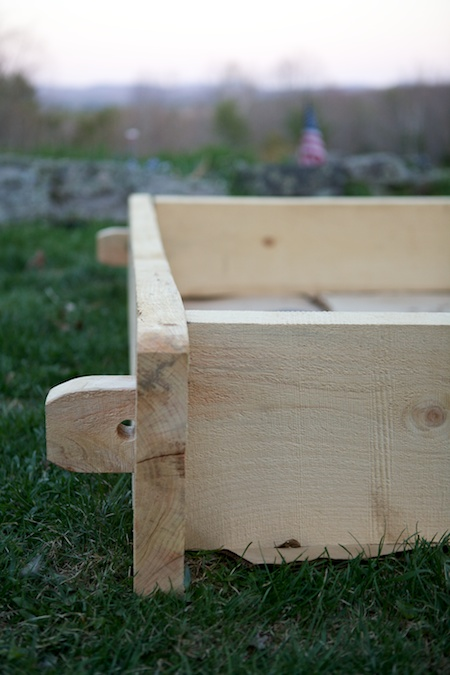 timberframed raised bed 3