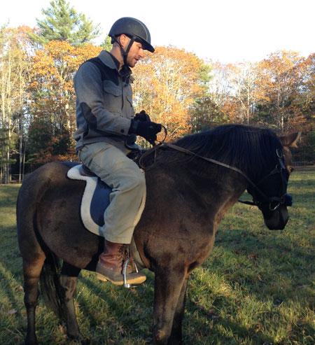 Brian on horseback