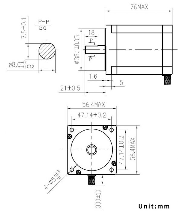   SM25776, Two-Phase Stepper Motor
