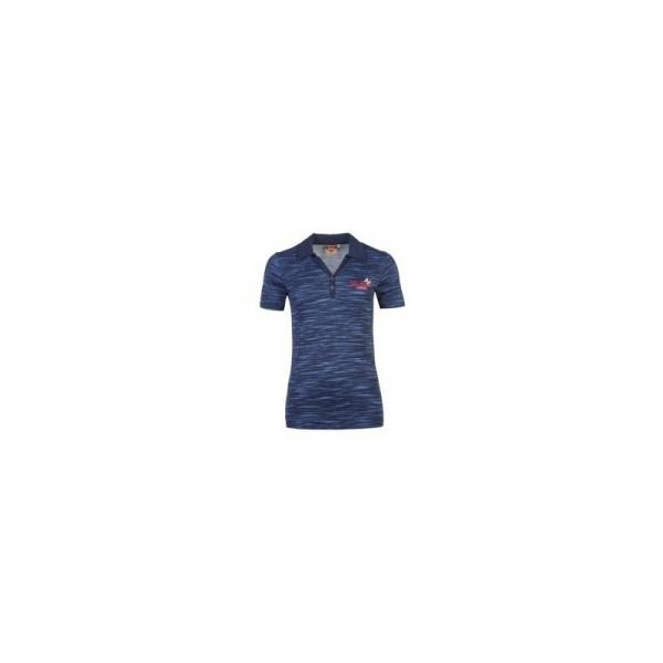 Lee Cooper Ladies Textured AOP Polo Shirt