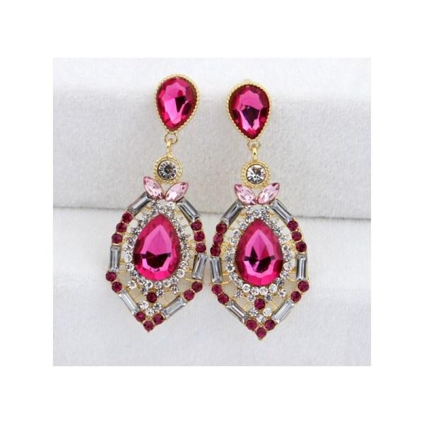 Pink diamond statement earrings