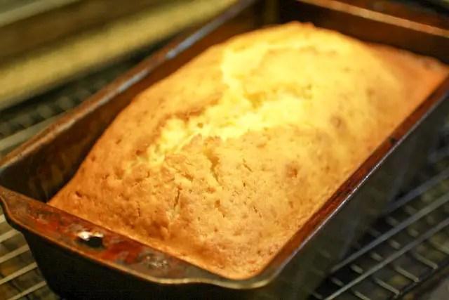 Tangerine Bread in a mold