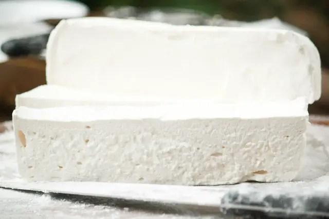 Homemade Marshmallows sliced