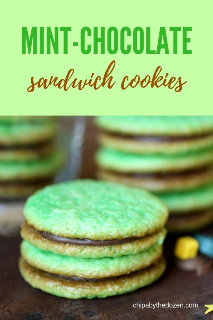 Mint-Chocolate Sandwich Cookies