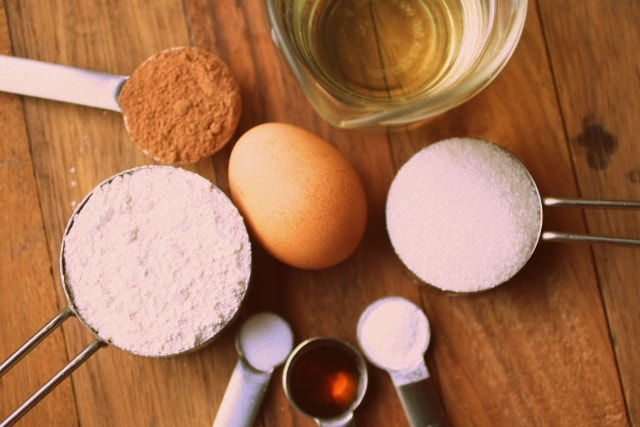 Brownies caseros, densos y húmedos ingredientes