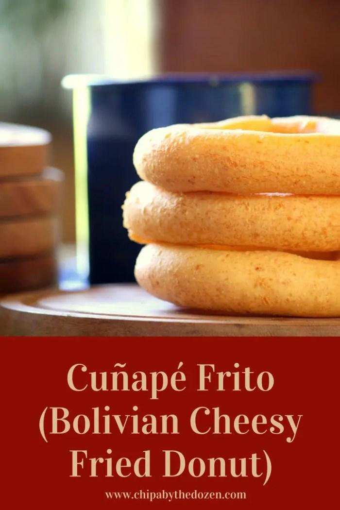 Cuñapé Frito (Bolivian Cheesy Fried Donut)