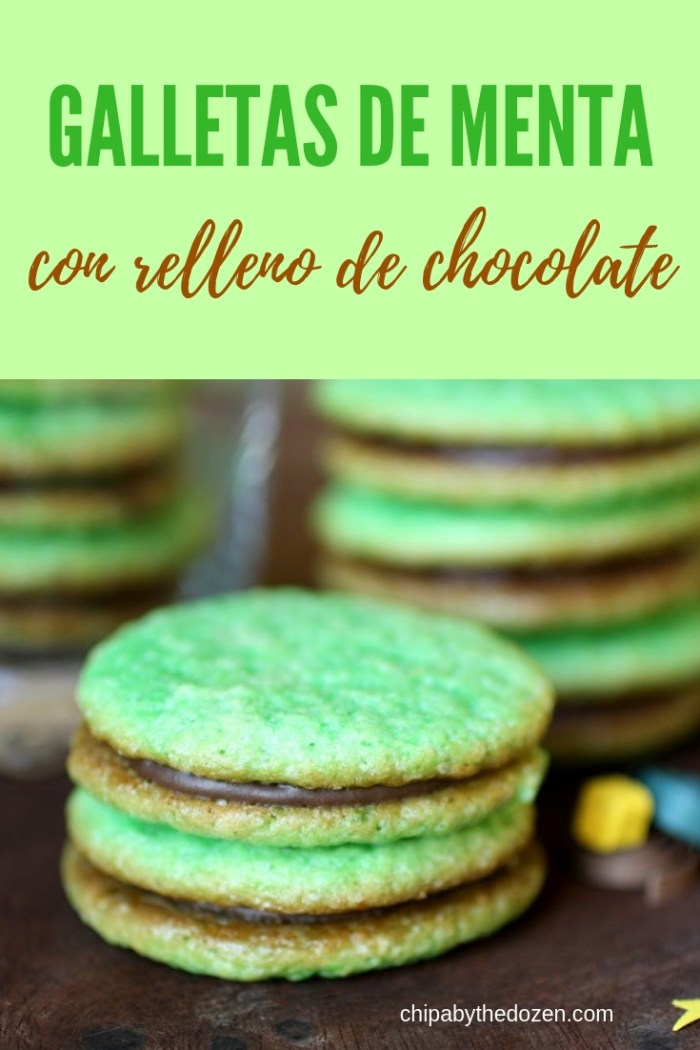 Galletitas de Menta con Relleno de Chocolate