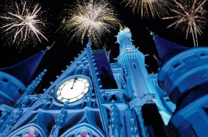 View from the front yard – Disney's New Year's Eve Magic Kingdom fireworks