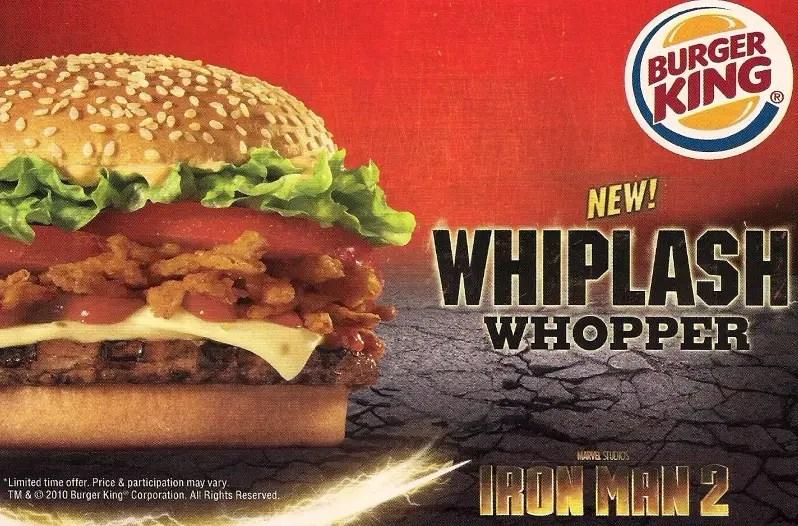 "Burger King Launches Marvel's Iron Man ""Whiplash"" Whopper"